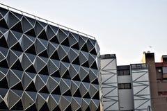 Ovanliga byggnader, Las Tablas, Madrid Royaltyfria Bilder