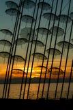 Ovanliga paraplyskulpturer Royaltyfri Fotografi