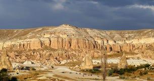 Ovanliga Rose Valley i Cappadocia Arkivbild