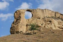 ovanligt berg royaltyfri foto