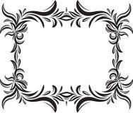 Ovanligt dekorativt snöra åt prydnaden, tappningram med fyrkanten emp Royaltyfria Foton