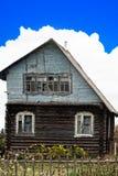 Ovanligt ryskt hus royaltyfri foto