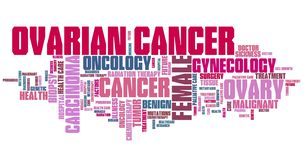 Ovarian cancer concept royalty free stock images