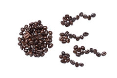 Ovary and spermatogenesis made of Brown coffee beans isolated Royalty Free Stock Photography