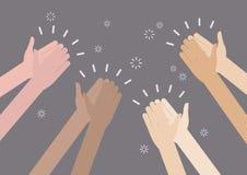 Ovation humaine d'applaudissement de mains Photos libres de droits