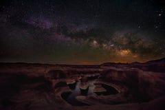 Ove млечного пути каньон Юта США отражения благоустраивает стоковые фотографии rf