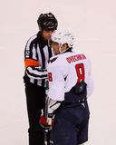 Ovechkin gets a penalty. Royalty Free Stock Photography