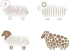 Ovejas stock de ilustración