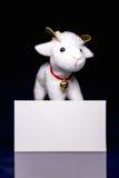 Ovejas con la tarjeta en blanco Fotografía de archivo libre de regalías
