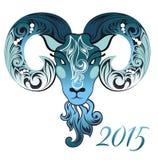Ovejas decorativas Símbolo de 2015 Fotos de archivo libres de regalías