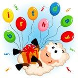 Ovejas del cumpleaños stock de ilustración