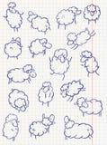 Ovejas del Doodle ilustración del vector