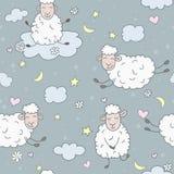 Ovejas en las nubes Fotos de archivo libres de regalías