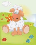 Ovejas en un prado libre illustration