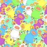 Ovejas multicoloras Fotografía de archivo