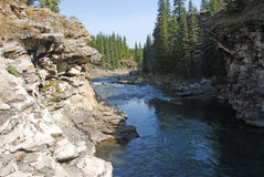 Ovejas River Valley del otoño fotos de archivo