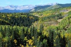 Ovejas River Valley en otoño Imagen de archivo libre de regalías