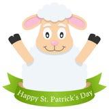 Ovejas y cinta felices del día de Patrick s Imagenes de archivo