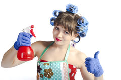 Ovely housewife Royalty Free Stock Images