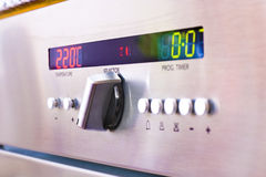 Oven. Closeup of control panel of an oven Stock Images