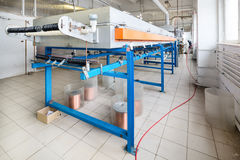 Oven for annealing wire. Stock Images