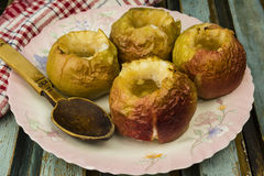 Oven baked apples Stock Photography