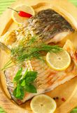 Oven baked carp fillet Royalty Free Stock Image