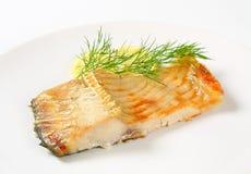Oven baked carp fillet Stock Image