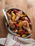 Oven-baked chicken legs Royalty Free Stock Image