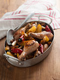 Oven-baked chicken legs Royalty Free Stock Images
