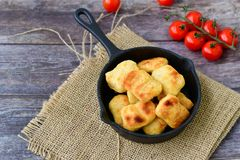 Oven baked chicken nuggets royalty free stock image
