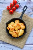 Oven baked chicken nuggets royalty free stock photo