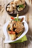 Oven-baked chicken and vegetables Stock Photography