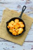 Oven baked chicken nuggets royalty free stock photos