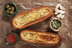 Oven baked garlic bread Royalty Free Stock Image