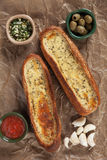 Oven baked garlic bread Stock Image