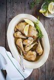 Oven-baked garlic chicken Royalty Free Stock Photography