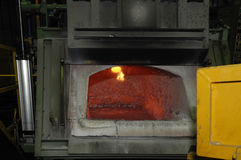 Oven,baked in a manufacturing of engines Stock Images