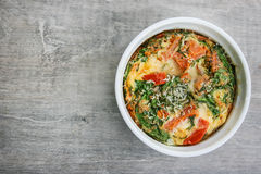 An oven baked omelette. Royalty Free Stock Photography