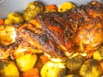 Oven baked pork leg Stock Image
