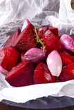 Oven baked red beets royalty free stock images