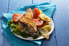 Oven baked rockfish Stock Image