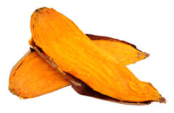 Oven Baked Sweet Potato Isolated sur le blanc photo stock