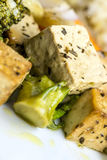 Oven baked tofu Stock Images