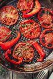 Oven-baked tomatoes with thyme Royalty Free Stock Photos