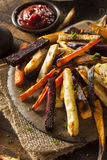 Oven Baked Vegetable Fries Images libres de droits