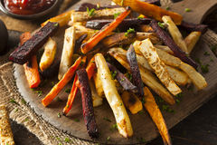 Oven Baked Vegetable Fries Lizenzfreies Stockfoto