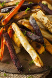 Oven Baked Vegetable Fries Arkivbilder