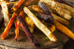 Oven Baked Vegetable Fries Arkivfoton