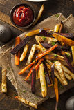 Oven Baked Vegetable Fries Arkivfoto